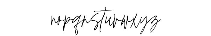 Mistique Touch Regular Font LOWERCASE