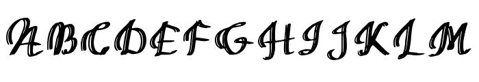 Mixed Artistry Regular Font UPPERCASE