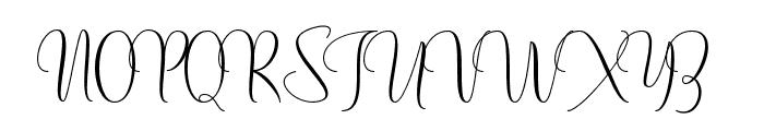Mochafloat Font UPPERCASE