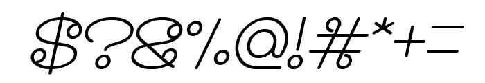 Modern Aristocrat Bold Italic Font OTHER CHARS