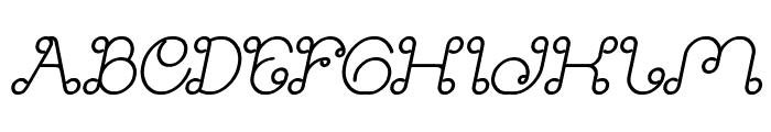 Modern Aristocrat Bold Italic Font UPPERCASE