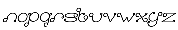 Modern Aristocrat Bold Italic Font LOWERCASE