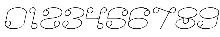 Modern Aristocrat Italic Font OTHER CHARS