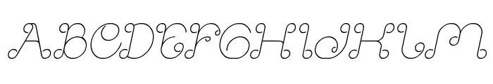 Modern Aristocrat Italic Font UPPERCASE