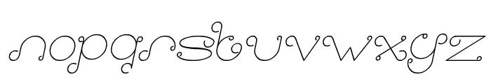 Modern Aristocrat Italic Font LOWERCASE
