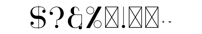 Moderna Font OTHER CHARS