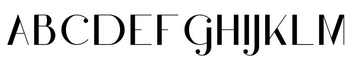 Moderna Font UPPERCASE