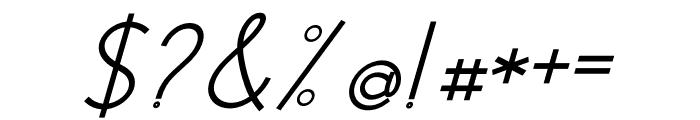 Modernilo Bold Italic Font OTHER CHARS