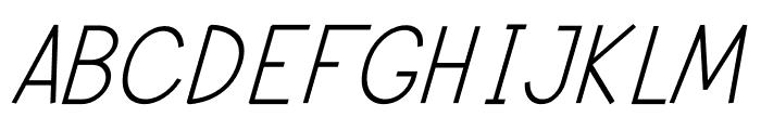 Modernilo Bold Italic Font UPPERCASE