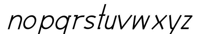 Modernilo Bold Italic Font LOWERCASE