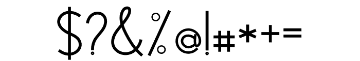 Modernilo Bold Font OTHER CHARS
