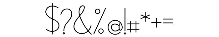Modernilo Font OTHER CHARS