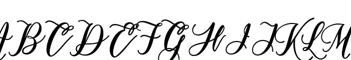 ModistaScript-Medium Font UPPERCASE