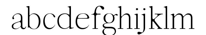 Moisses Light Round Font LOWERCASE