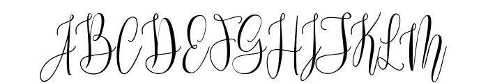 MollindaScript Font UPPERCASE