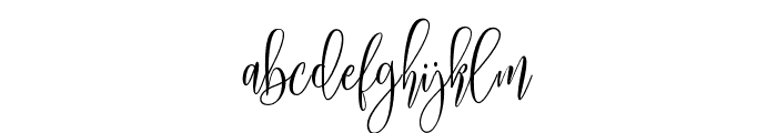 MollindaScript Font LOWERCASE