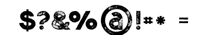 Momoco Grunge Font OTHER CHARS