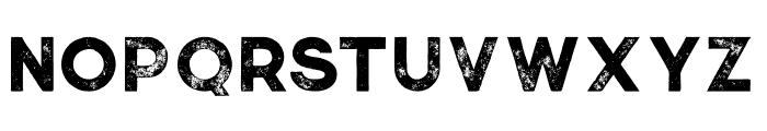 Momoco Grunge Font UPPERCASE