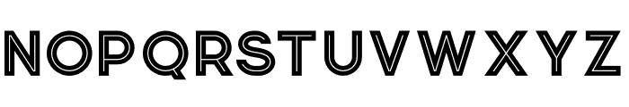 Momoco Inline Font UPPERCASE