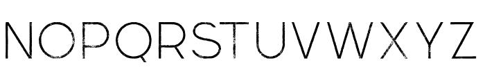 Momoco Thin Grunge Font UPPERCASE