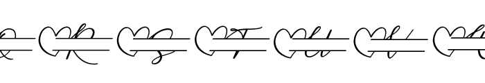 Monallesia Monogram Italic Font UPPERCASE