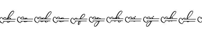 Monallesia Monogram Italic Font LOWERCASE
