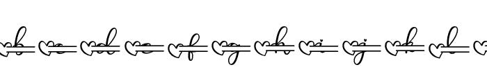 Monallesia Monogram Font LOWERCASE