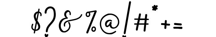 Monallesia Script Font OTHER CHARS