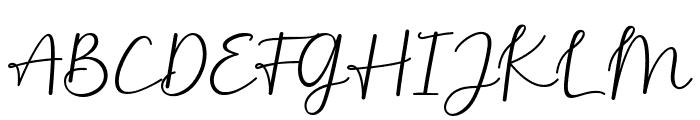Monallesia Script Font UPPERCASE