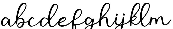 Monallesia Script Font LOWERCASE