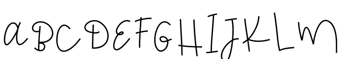 MondayBlues Font UPPERCASE