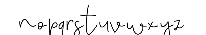 MondayBlues Font LOWERCASE