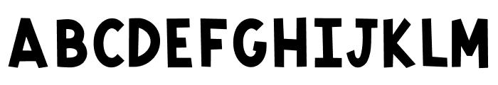 Monkey Mayhem Font UPPERCASE