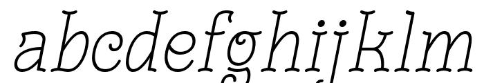 Monomalistic Generation Italic Font LOWERCASE