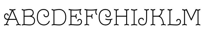 Monomalistic Generation Font UPPERCASE