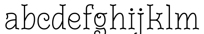 Monomalistic Generation Font LOWERCASE