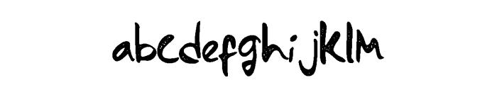 Monterado Rough Font LOWERCASE