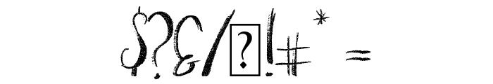 Moonlit Harvest Uppercase Font OTHER CHARS