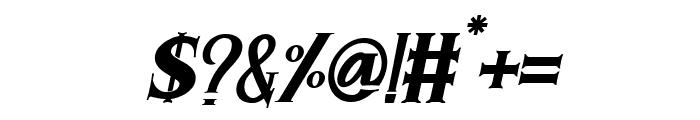 Morgan Tattoo  Italic Font OTHER CHARS