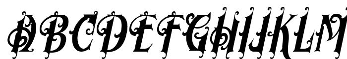 Morgan Tattoo  Italic Font UPPERCASE
