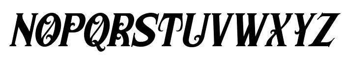 Morgan Tattoo  Italic Font LOWERCASE