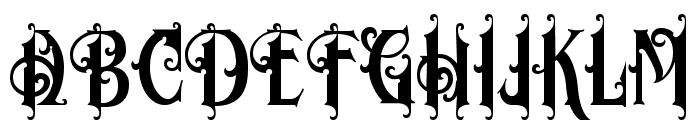 Morgan Tattoo Font UPPERCASE