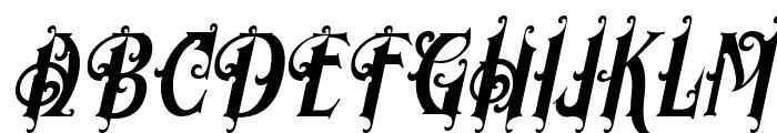 MorganTattoo-Italic Font UPPERCASE