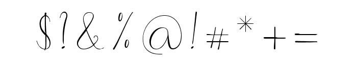 Morri Belle Script Regular Font OTHER CHARS