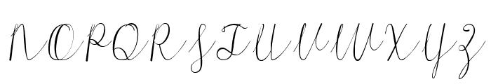 Morri Belle Script Regular Font UPPERCASE