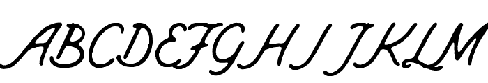 Mount Hill Rough Font UPPERCASE