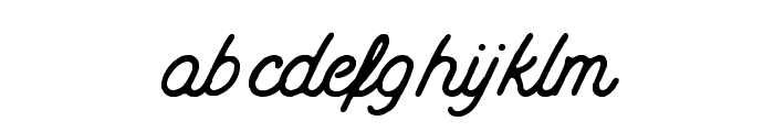 Mount Hill Rough Font LOWERCASE
