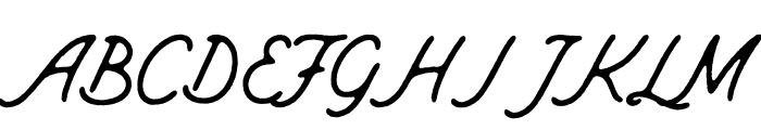 MountHill-Rough Font UPPERCASE
