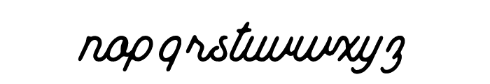 MountHill-Rough Font LOWERCASE