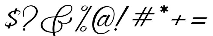 MuangthaiScript Font OTHER CHARS
